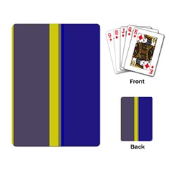 Blue and yellow lines Playing Card