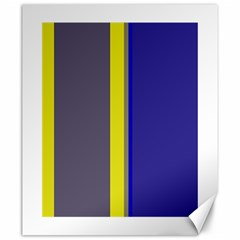 Blue and yellow lines Canvas 20  x 24