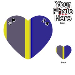 Blue and yellow lines Playing Cards 54 (Heart)