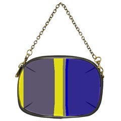Blue and yellow lines Chain Purses (One Side)