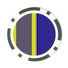 Blue and yellow lines Poker Chip Card Guards (10 pack)