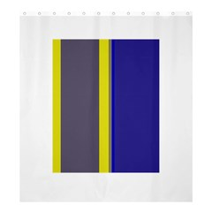 Blue and yellow lines Shower Curtain 66  x 72  (Large)