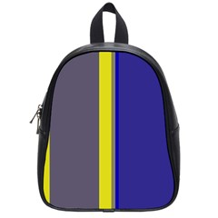 Blue and yellow lines School Bags (Small)