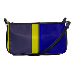Blue and yellow lines Shoulder Clutch Bags