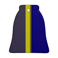 Blue and yellow lines Bell Ornament (2 Sides)