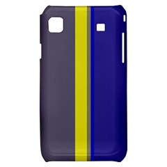 Blue and yellow lines Samsung Galaxy S i9000 Hardshell Case