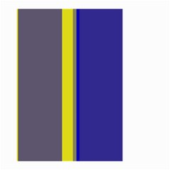 Blue and yellow lines Small Garden Flag (Two Sides)