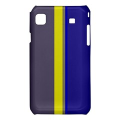 Blue and yellow lines Samsung Galaxy S i9008 Hardshell Case