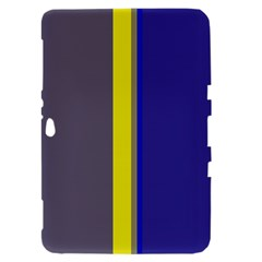 Blue and yellow lines Samsung Galaxy Tab 8.9  P7300 Hardshell Case