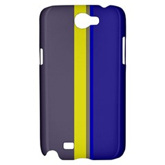 Blue and yellow lines Samsung Galaxy Note 2 Hardshell Case