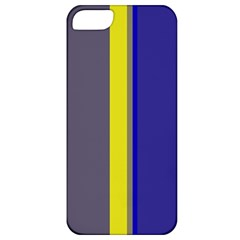 Blue and yellow lines Apple iPhone 5 Classic Hardshell Case