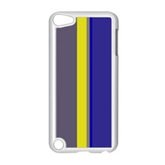 Blue and yellow lines Apple iPod Touch 5 Case (White)
