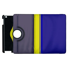 Blue and yellow lines Apple iPad 2 Flip 360 Case