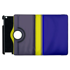 Blue and yellow lines Apple iPad 3/4 Flip 360 Case
