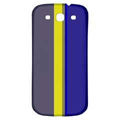 Blue and yellow lines Samsung Galaxy S3 S III Classic Hardshell Back Case