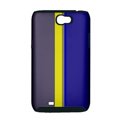 Blue and yellow lines Samsung Galaxy Note 2 Hardshell Case (PC+Silicone)