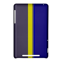 Blue and yellow lines Nexus 7 (2012)