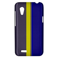 Blue and yellow lines HTC Desire VT (T328T) Hardshell Case