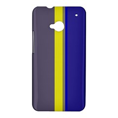 Blue and yellow lines HTC One M7 Hardshell Case