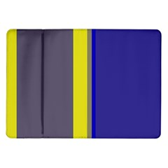 Blue and yellow lines Samsung Galaxy Tab 10.1  P7500 Flip Case