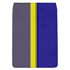 Blue and yellow lines Flap Covers (S)