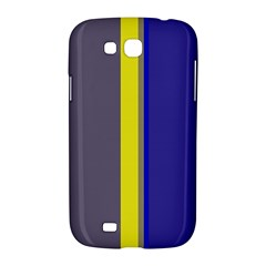 Blue and yellow lines Samsung Galaxy Grand GT-I9128 Hardshell Case