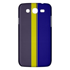 Blue and yellow lines Samsung Galaxy Mega 5.8 I9152 Hardshell Case