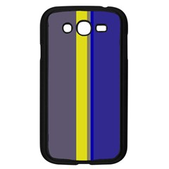 Blue and yellow lines Samsung Galaxy Grand DUOS I9082 Case (Black)