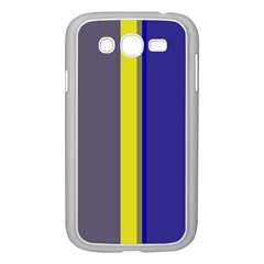 Blue and yellow lines Samsung Galaxy Grand DUOS I9082 Case (White)