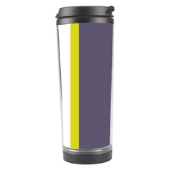 Blue and yellow lines Travel Tumbler