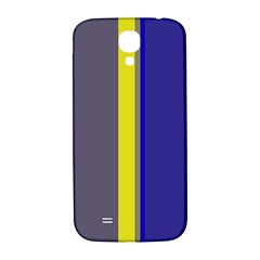 Blue and yellow lines Samsung Galaxy S4 I9500/I9505  Hardshell Back Case