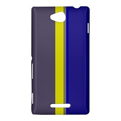 Blue and yellow lines Sony Xperia C (S39H)