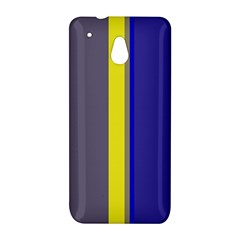 Blue and yellow lines HTC One Mini (601e) M4 Hardshell Case