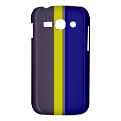 Blue and yellow lines Samsung Galaxy Ace 3 S7272 Hardshell Case