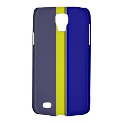 Blue and yellow lines Galaxy S4 Active