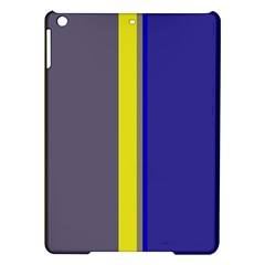 Blue and yellow lines iPad Air Hardshell Cases