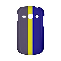 Blue and yellow lines Samsung Galaxy S6810 Hardshell Case
