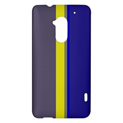 Blue and yellow lines HTC One Max (T6) Hardshell Case