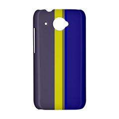 Blue and yellow lines HTC Desire 601 Hardshell Case