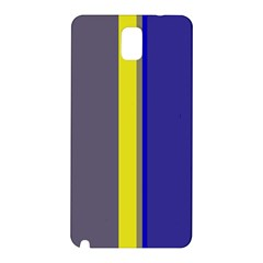 Blue and yellow lines Samsung Galaxy Note 3 N9005 Hardshell Back Case