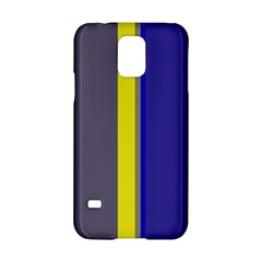 Blue and yellow lines Samsung Galaxy S5 Hardshell Case