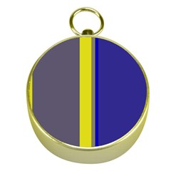 Blue and yellow lines Gold Compasses