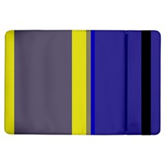 Blue and yellow lines iPad Air Flip
