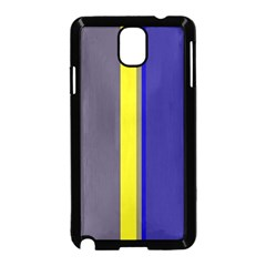 Blue and yellow lines Samsung Galaxy Note 3 Neo Hardshell Case (Black)