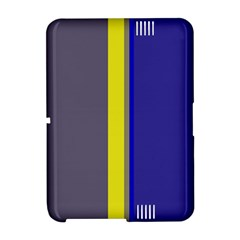 Blue and yellow lines Amazon Kindle Fire (2012) Hardshell Case