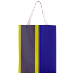 Blue and yellow lines Classic Light Tote Bag