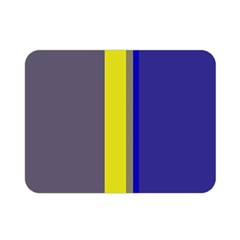 Blue and yellow lines Double Sided Flano Blanket (Mini)