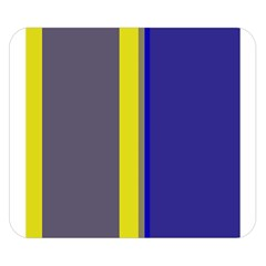 Blue and yellow lines Double Sided Flano Blanket (Small)