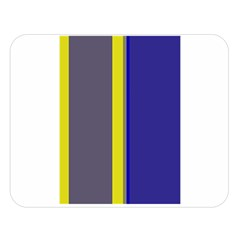 Blue and yellow lines Double Sided Flano Blanket (Large)