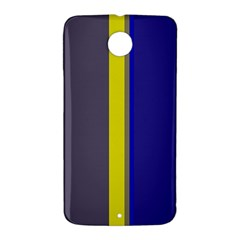 Blue and yellow lines Nexus 6 Case (White)